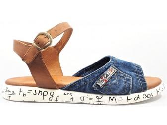 Босоножки 1034-5 E-sax, Джинсовая обувь