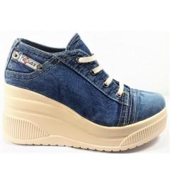 Мокасины на шнурке 552-40, , 1515 грн., 552-40, E-sax, Джинсовая обувь