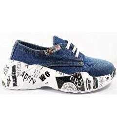 Мокасины на шнурке 7550, , 1515 грн., 7550, E-sax, Джинсовая обувь
