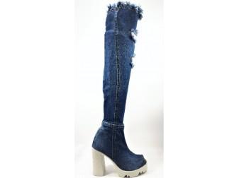 Сапоги 198-P24 E-sax, Джинсовая обувь