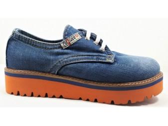 Мокасины на шнурке 550-i5k E-sax, Джинсовая обувь