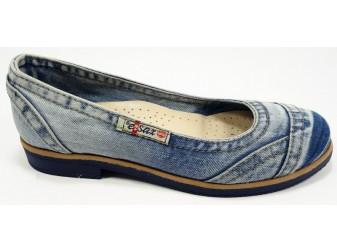 Балетки 510-y4-p15 E-sax, Джинсовая обувь