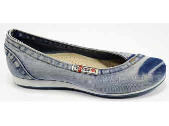 Балетки 497-y4-k1-16 E-sax, Джинсовая обувь