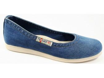 Балетки 500-T12 E-sax, Джинсовая обувь