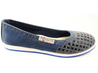 Балетки 500-T29-67 E-sax, Джинсовая обувь