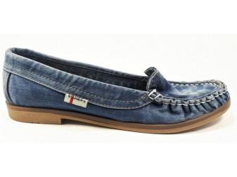 Мокасины 494-39f E-sax, Джинсовая обувь
