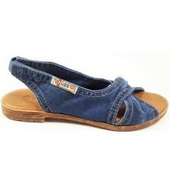Босоножки, , 1333 грн., 1058-z38k, E-sax, Джинсовая обувь