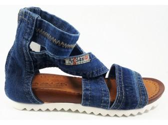 Босоножки 2089-D2 E-sax, Джинсовая обувь