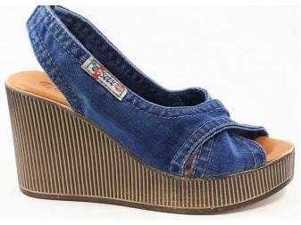 Босоножки E-sax, Джинсовая обувь