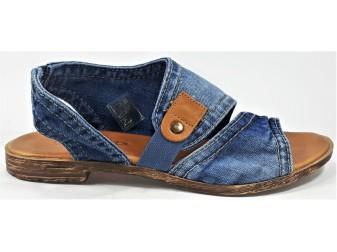 Босоножки 1221-B7-238 E-sax, Джинсовая обувь
