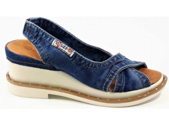 Босоножки 1058-S8 E-sax, Джинсовая обувь