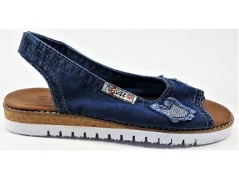 Босоножки 1040-N25-i55 E-sax, Джинсовая обувь