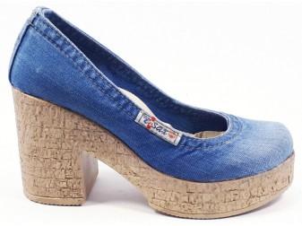 туфли 500-b7 Ersax, Джинсовая обувь