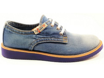 Мокасины на шнурке 550-T4 E-sax, Джинсовая обувь