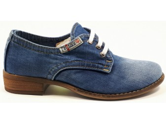 Мокасины на шнурке 550-77 E-sax, Джинсовая обувь