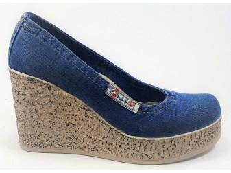 Туфли 500-D4 E-sax, Джинсовая обувь
