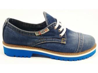 Мокасины на шнурке 551-i4m Ersax, Джинсовая обувь