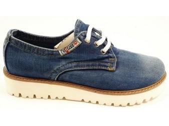 Мокасины на шнурке  Ersax, Джинсовая обувь
