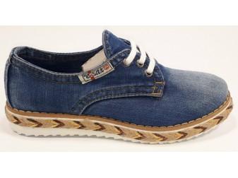 Мокасины на шнурке 550-y6 E-sax, Джинсовая обувь