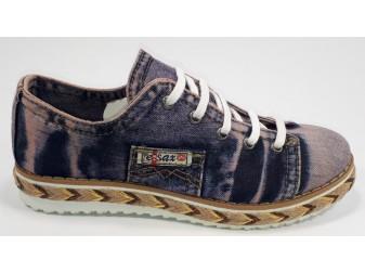 Мокасины на шнурке 552-y1-y6 Ersax, Джинсовая обувь