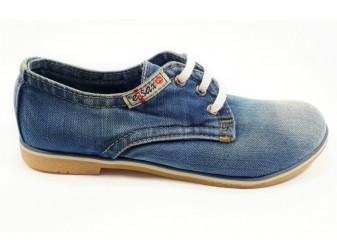 Мокасины на шнурке 550-39 Ersax, Джинсовая обувь