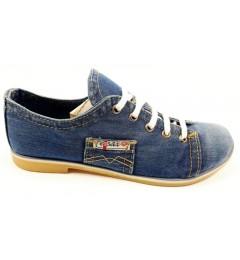 Мокасины на шнурке 552-39, , 1204 грн., Мокасины на шнурке 552-39, Ersax, Джинсовая обувь