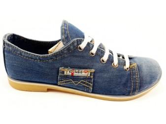Мокасины на шнурке 552-39 Ersax, Джинсовая обувь