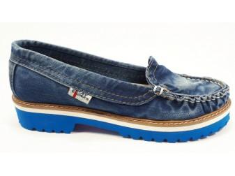 Мокасины 494-i4m Ersax, Джинсовая обувь