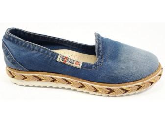 Балетки 495-y6 Ersax, Джинсовая обувь