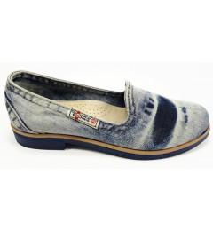 Балетки 495-y3-p15, , 1261 грн., Балетки 495-y3-p15, Ersax, Джинсовая обувь