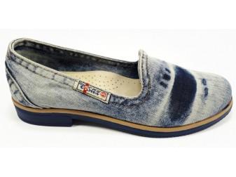 Балетки 495-y3-p15 Ersax, Джинсовая обувь