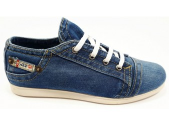 Мокасины на шнурке 701-21 E-sax, Джинсовая обувь