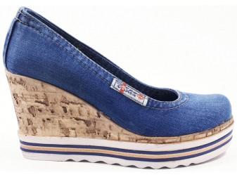 Туфли 500-p23 Ersax, Джинсовая обувь