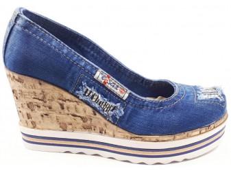 Туфли 500-n16-p23 Ersax, Джинсовая обувь
