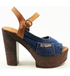 Босоножки 1002-a5k37-b3i, , 1345 грн., Босоножки 1002-a5k37-b3i, Ersax, Джинсовая обувь