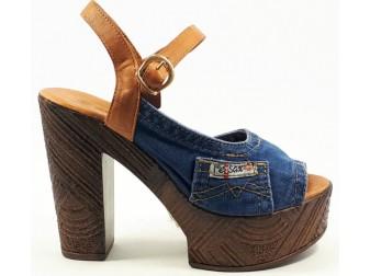 Босоножки 1002-a5k37-b3i Ersax, Джинсовая обувь
