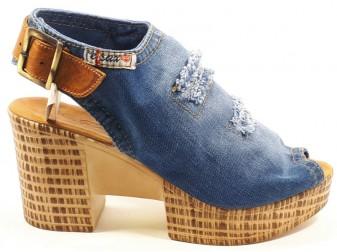 Босоножки 1210-Z6k Ersax, Джинсовая обувь