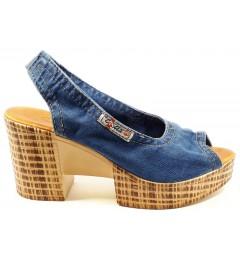 Босоножки 1040-z6k, , 1232 грн., Босоножки 1040-z6k, Ersax, Джинсовая обувь