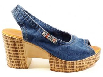Босоножки 1040-z6k Ersax, Джинсовая обувь