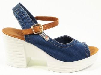 Босоножки 1206-k37-z6b Ersax, Джинсовая обувь