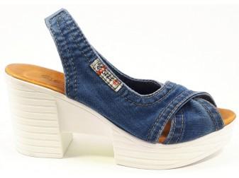 Босоножки 1058-z6 Ersax, Джинсовая обувь