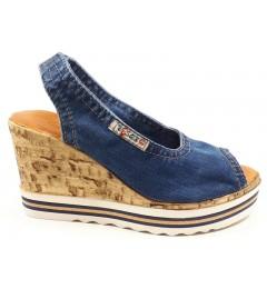 Босоножки 1040-P23, , 1232 грн., Босоножки 1040-P23, Ersax, Джинсовая обувь