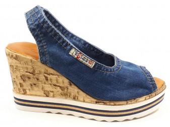 Босоножки 1040-P23 Ersax, Джинсовая обувь