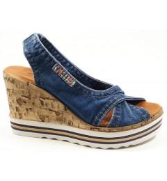 Босоножки 1058-P23, , 1232 грн., Босоножки 1058-P23, Ersax, Джинсовая обувь