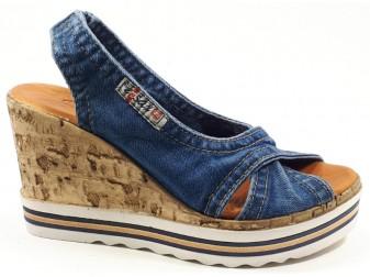 Босоножки 1058-P23 Ersax, Джинсовая обувь