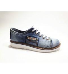 Мокасины на шнурке 552-Y4-33, , 1232 грн., 552-Y4-33, Ersax, Джинсовая обувь