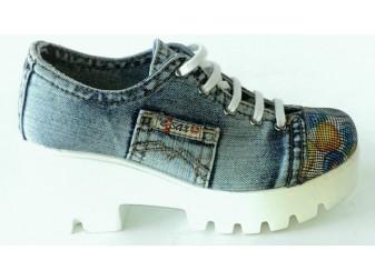 Туфли 552-y4-c13-b Ersax, Джинсовая обувь