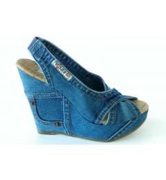Босоножки 1058-54, , 1457 грн., 1058-54, Ersax, Джинсовая обувь