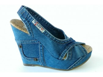 Босоножки 1058-54 Ersax, Джинсовая обувь