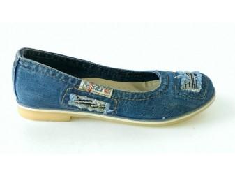 Балетки 500-N16-39 Ersax, Джинсовая обувь